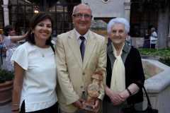 Miguel Romero. Premio Cadena Cope con su madre.