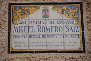 Homenaje Escritores en Cañete