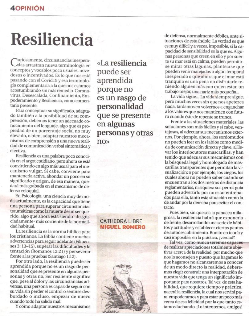 Miguel Romero - Resiliencia - La Tribuna De Albacete