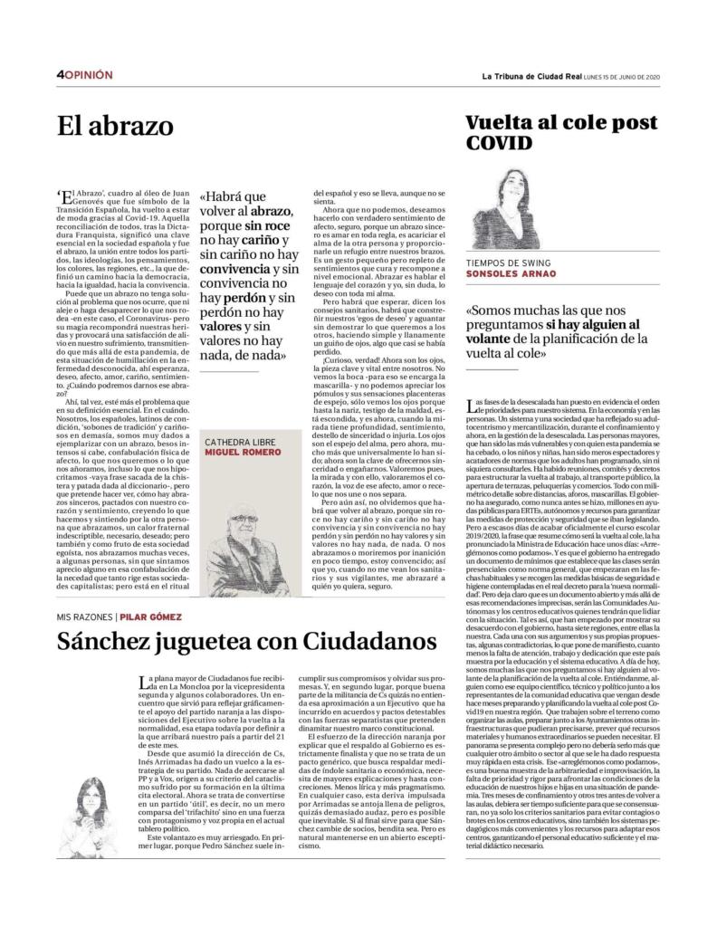 Miguel Romero - Cathedra Libre - El Abrazo - La Tribuna de Ciudad Real